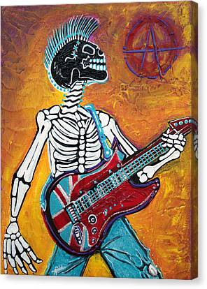 Punks Not Dead Canvas Print by Laura Barbosa