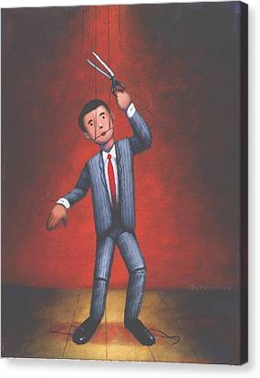 Puppet Canvas Print by Steve Dininno