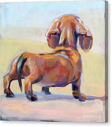 Commissions Canvas Print - Puppy Butt by Kimberly Santini