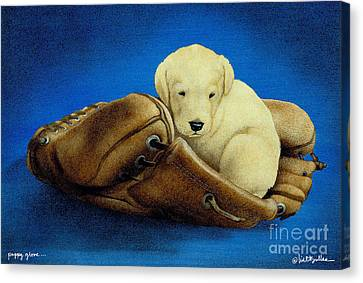 Puppy Glove... Canvas Print by Will Bullas