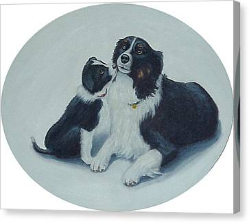 Puppy Kisses Canvas Print by Fran Brooks