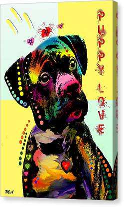 Puppy Love Canvas Print by Mark Ashkenazi