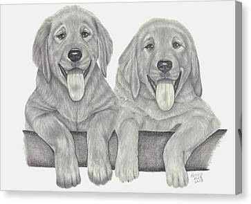 Puppy Love Canvas Print by Patricia Hiltz