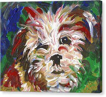 Puppy Spirit 101 Canvas Print by Linda Mears