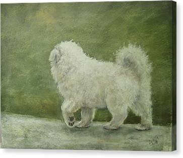 Puppy Struttin' Canvas Print by Elizabeth Ellis