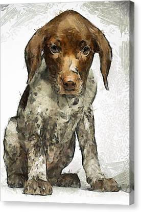 Canvas Print featuring the painting Pupy by Georgi Dimitrov