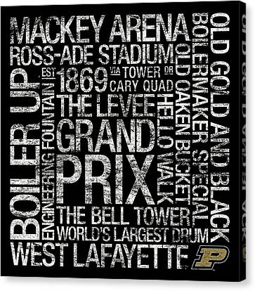 Purdue College Colors Subway Art Canvas Print by Replay Photos