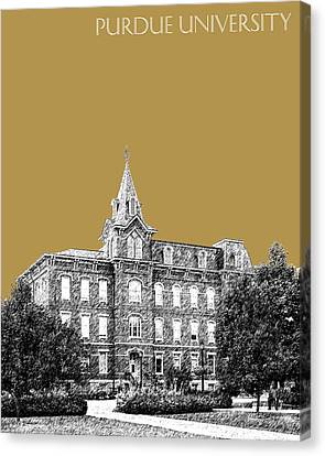 Purdue University - University Hall - Brass Canvas Print by DB Artist