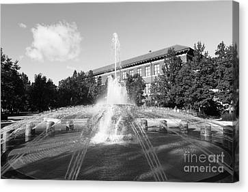 Purdue University Loeb Fountain Canvas Print by University Icons