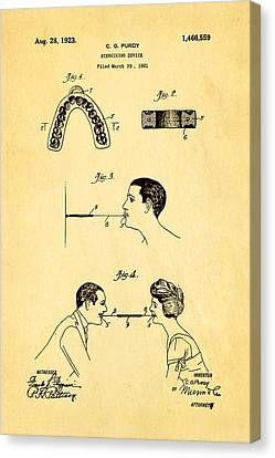 Purdy Excercising Device Patent Art 1923 Canvas Print