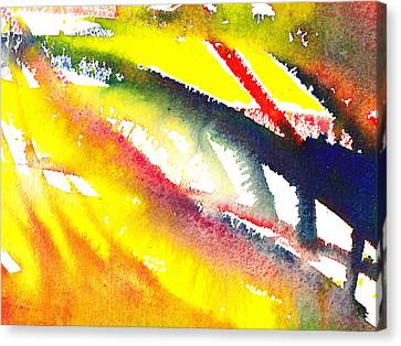 Pure Color Inspiration Abstract Painting Escaping Blaze Canvas Print