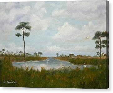 Canvas Print featuring the painting Pure by Dawn Harrell