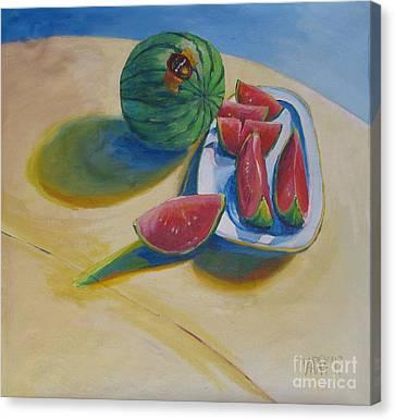 Pure Heart Canvas Print by Vanessa Hadady BFA MA