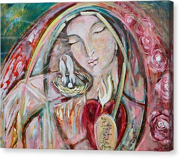 Pure Love Of The Divine Canvas Print by Shiloh Sophia McCloud