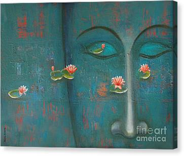 Canvas Print featuring the painting Pure Thoughts by Mini Arora