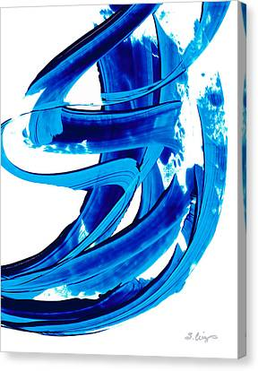 Pure Water 304 - Blue Abstract Art By Sharon Cummings Canvas Print by Sharon Cummings