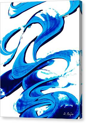 Pure Water 314 - Blue Abstract Art By Sharon Cummings Canvas Print by Sharon Cummings
