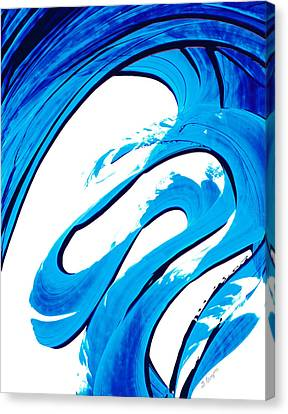Pure Water 315 - Blue Abstract Art By Sharon Cummings Canvas Print by Sharon Cummings