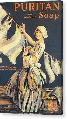Puritan 1910s Uk Washing Powder Canvas Print by The Advertising Archives