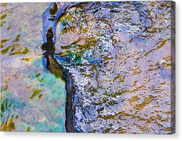 Purl Of A Brook 3 - Featured 3 Canvas Print by Alexander Senin