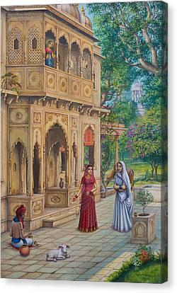 Purnamasi In House Of Kirtida Canvas Print by Vrindavan Das