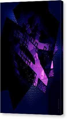 Purple Abstract Geometric Canvas Print by Mario Perez