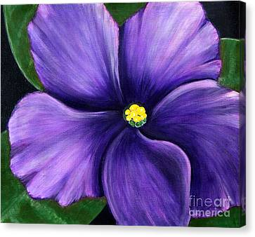 Purple African Violet Canvas Print by Barbara Griffin