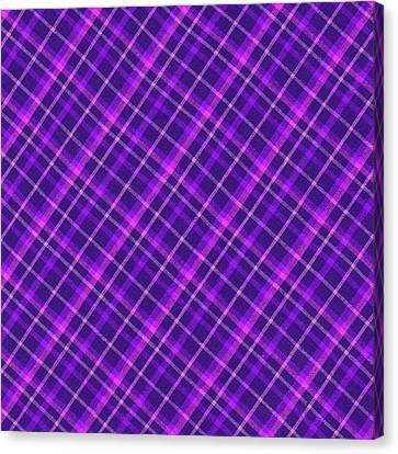 Purple And Pink Diagonal Plaid Fabric Background Canvas Print by Keith Webber Jr