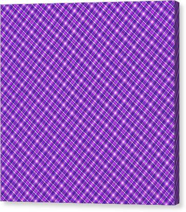 Purple And Pink Diagonal Plaid Pattern Cloth Background Canvas Print by Keith Webber Jr