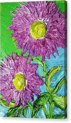 Purple Asters Canvas Print by Paris Wyatt Llanso