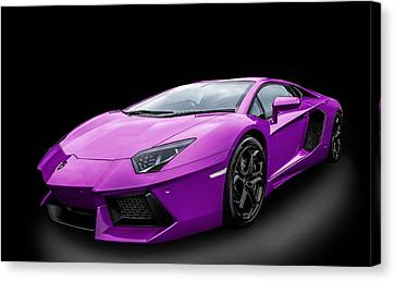 Purple Aventador Canvas Print