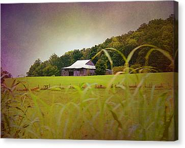 Abandoned Houses Canvas Print - Purple Barn by Kume Bryant