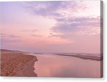 Purple Beach Canvas Print by Alex Hiemstra