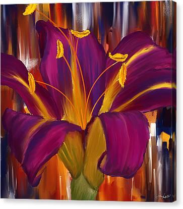 Purple Blast Canvas Print by Lourry Legarde