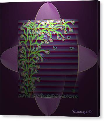 Purple Blind Canvas Print by Ines Garay-Colomba