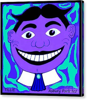 Seaside Heights Canvas Print - Purple Blue 1960s Tillie by Eric  Schiabor