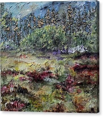 Purple  Canvas Print by Brenda Berdnik