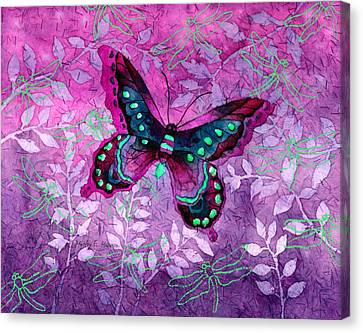 Purple Butterfly Canvas Print by Hailey E Herrera