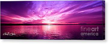 Purple Candy .sunrise Canvas Print by Geoff Childs