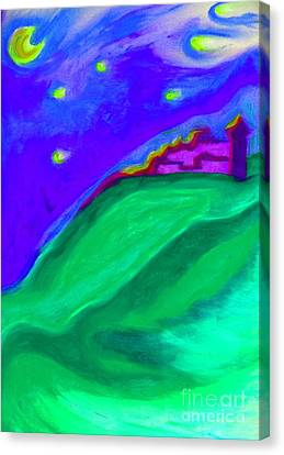 Canvas Print featuring the painting Purple Castle By Jrr by First Star Art