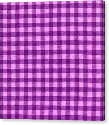 Purple Checkered Design Fabric Background Canvas Print by Keith Webber Jr