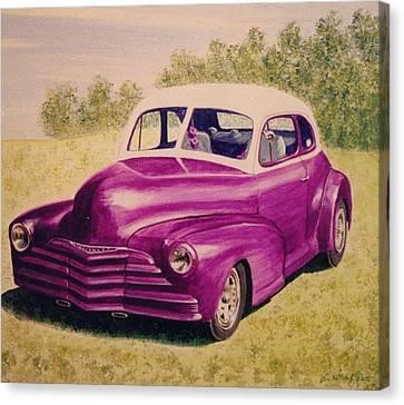 Purple Chevrolet Canvas Print