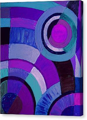 Purple Circle Abstract Painting Canvas Print