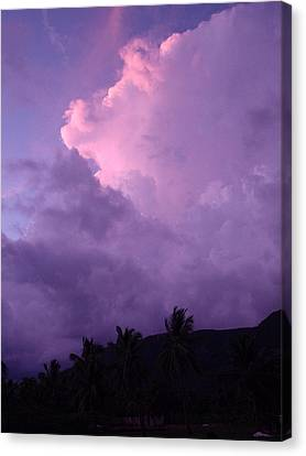 Purple Clouds Canvas Print by Marianne Miles