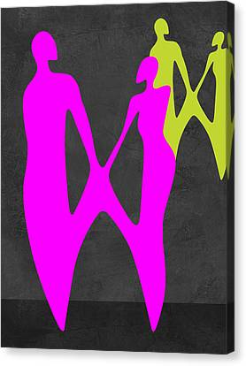 Making Canvas Print - Purple Couple by Naxart Studio