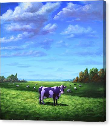 Purple Cow Canvas Print