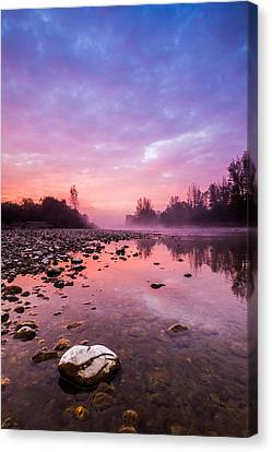 Purple Dawn Canvas Print by Davorin Mance