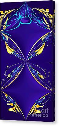 Purple Diamonds Canvas Print by Liane Wright