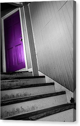 Purple Door Canvas Print by Christy Usilton