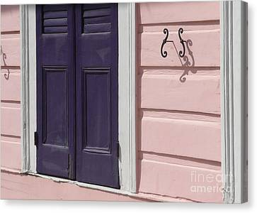 Canvas Print featuring the photograph Purple Door by Valerie Reeves